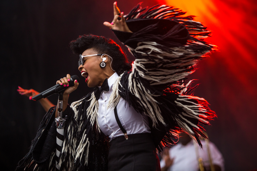 Janelle Monáe performs on Sunday.