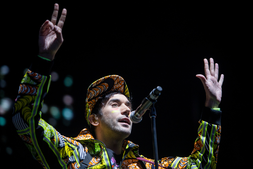 Sufjan Stevens performs on Friday.