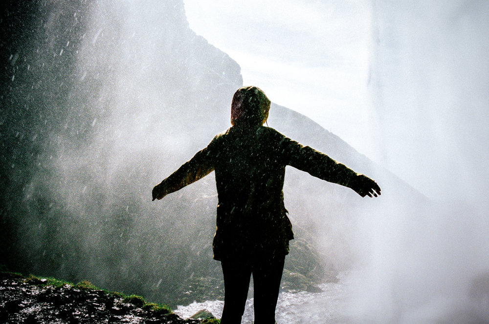 In The Falls, Iceland