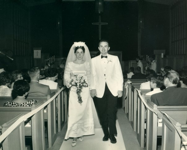 My parents' wedding day, the summer of 1969.