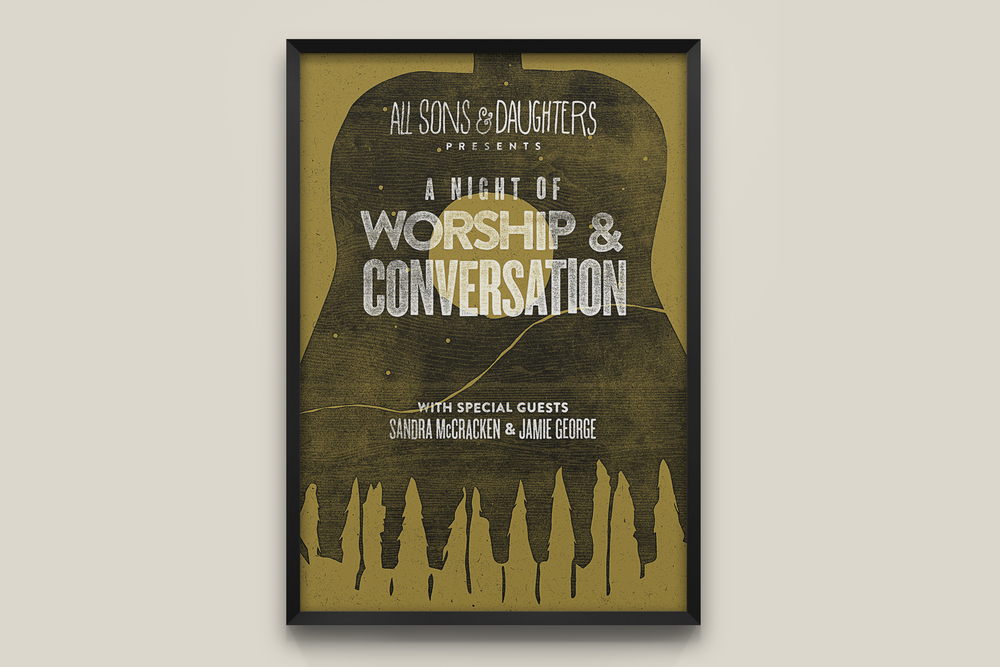 All Sons & Daughters 2015 Tour Poster