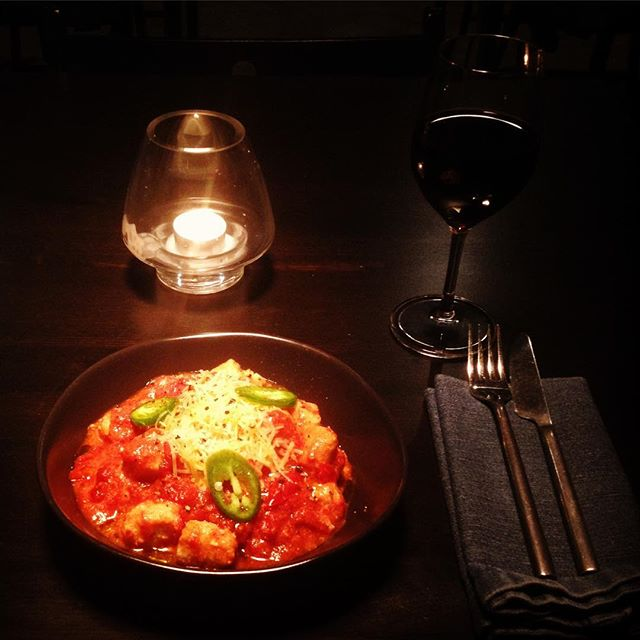 Gnocchi and a heavy red. Don't settle for average on a Monday night. #uniquedining #nosetotail #roottoleaves #cookshill #darbyst #smh #goodfoodguide #urbanlistsyd #concreteplayground