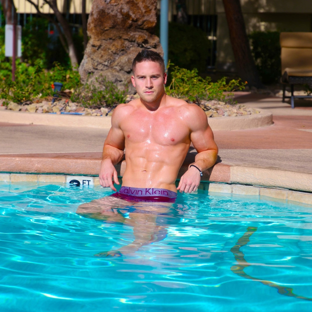 "Male Stripper ""Tommy"" @ Las Vegas Pool Shoot."