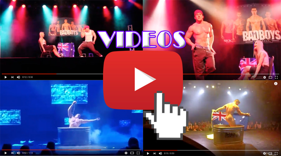 male strippers in action on youtube! see videos of male stripper tommy gun on stage