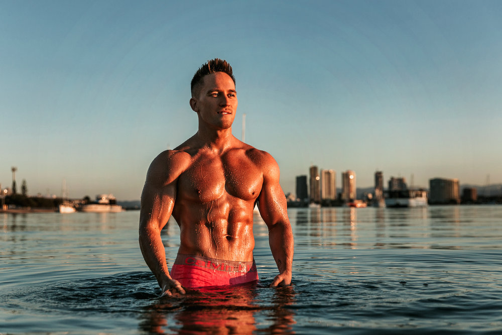 Hire male stripper tommy gun in the gold coast brisbane or byron bay