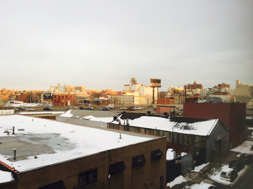 Out of the window of my new studio in Brooklyn!