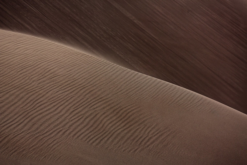 The lines and textures of the sand dunes are incredible