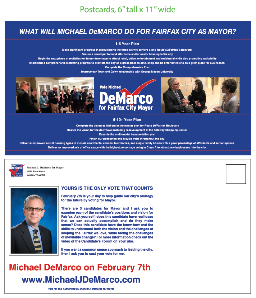Micheal J. DeMarco Mayoral Mailing #4
