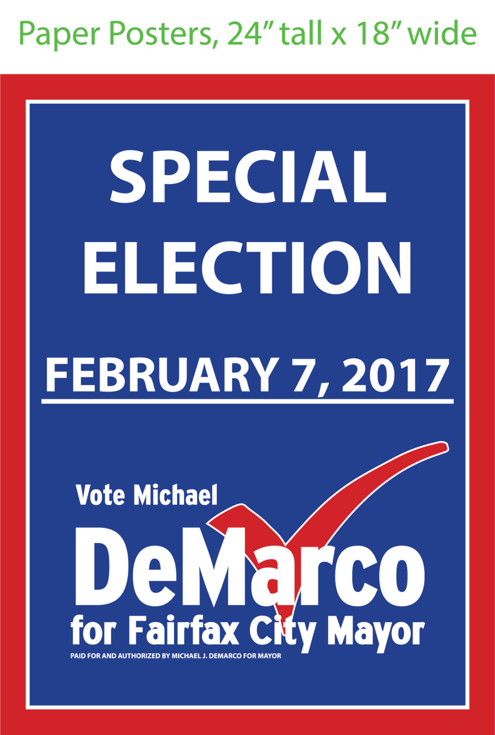 Michael J. DeMarco for Mayor Promotional Poster