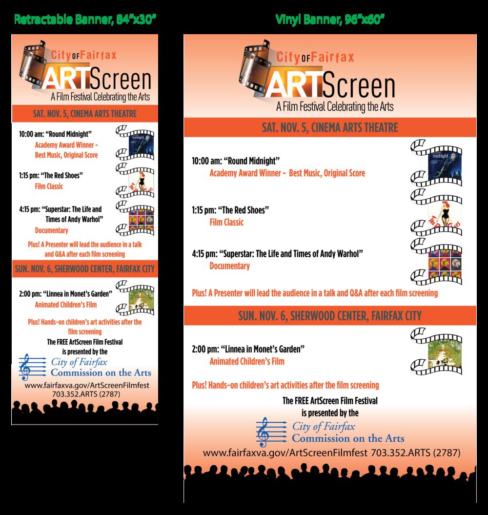 City of Fairfax ARTScreen Banners