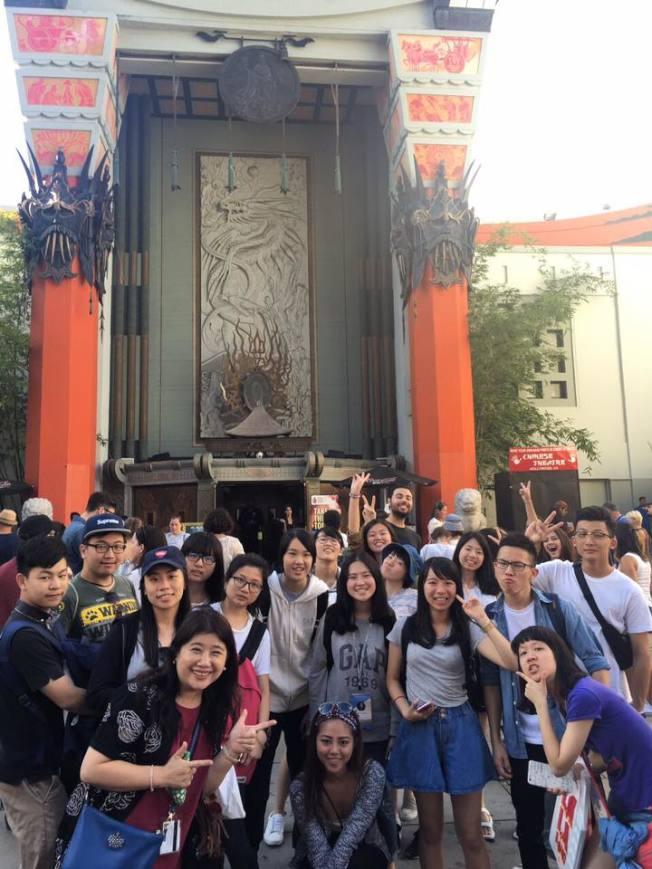 在中國戲院結束一天參訪行程。