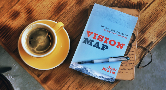 Vision Map by Joël Malm Vision Map: Charting a Step-by-Step Course For Your Biggest Hopes and Dreams is a perfect book for anyone who has a God-given dream but doesn't know where to start. In the book Joël tells his story of starting Summit Leaders and lays out practical tips to help you get moving. Available wherever books or sold or click the image above.