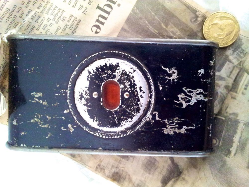 The rear of the Pocket Kodak has numerous scratches.