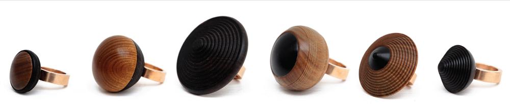 Simone Brewster Jewellery Ebony Revolution Rings