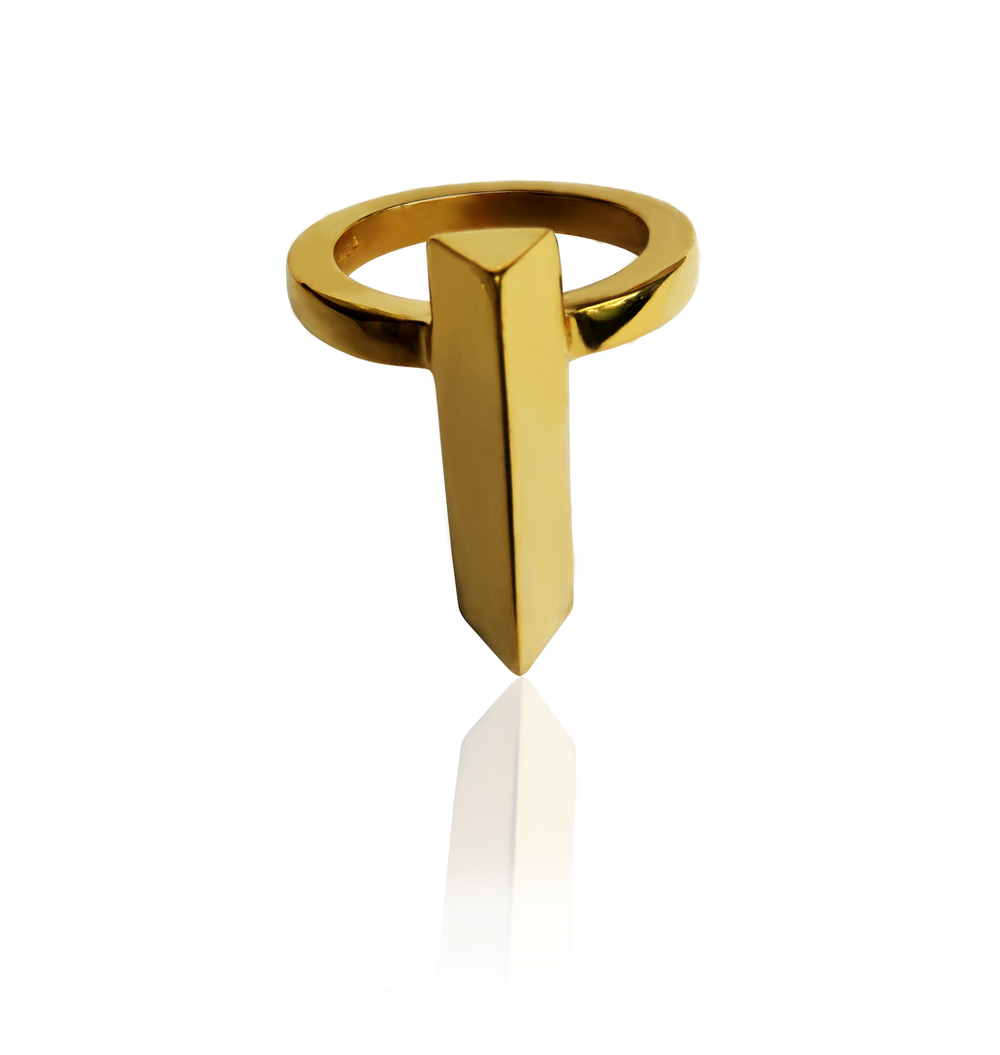 Simone Brewster Gold Prism Ring