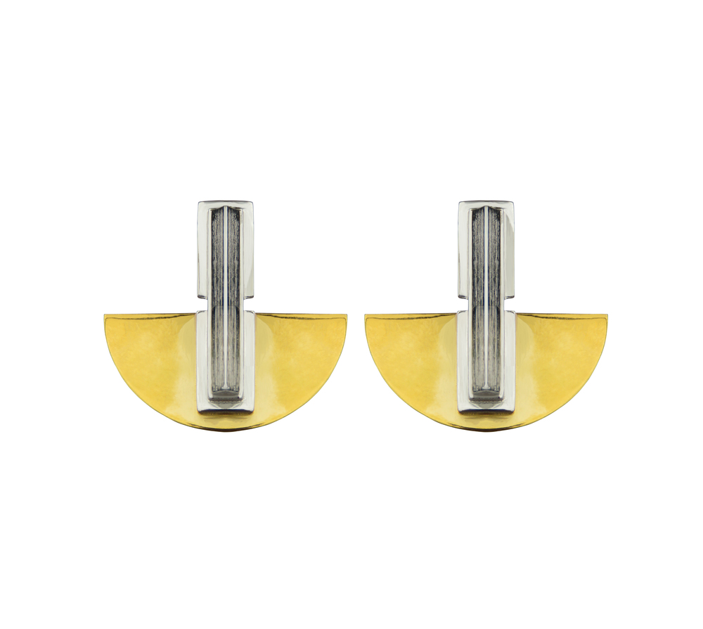 Simone Brewster Semi Disc Earrings