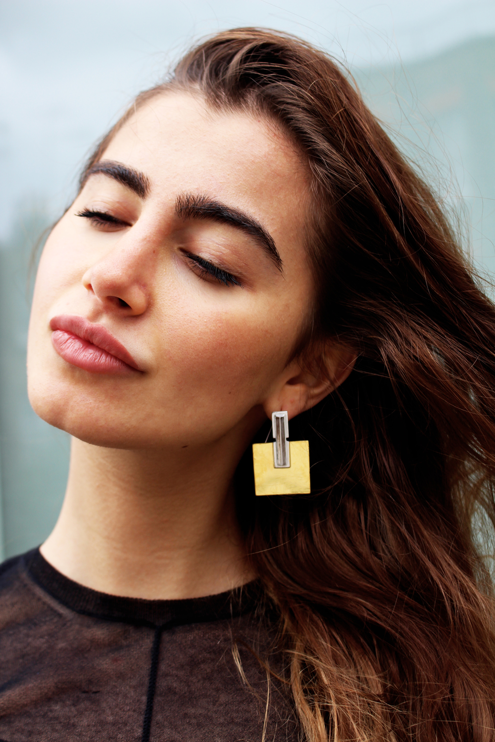 Simone Brewster jewelry gold earrings