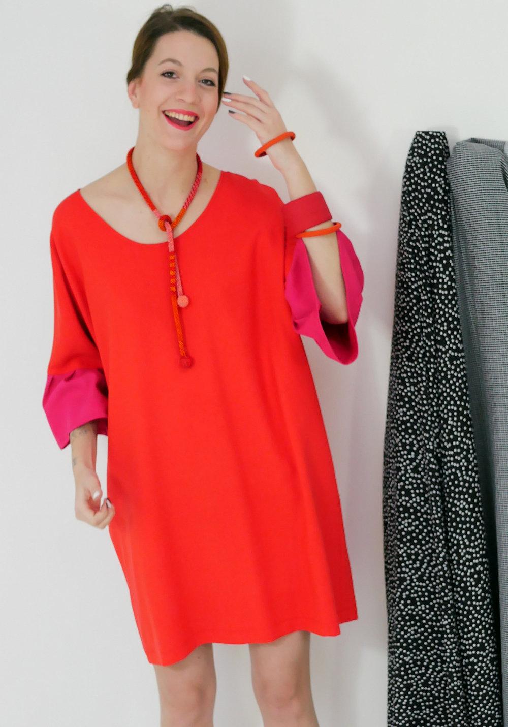 beverly smart d61 tee tunic dress pleated sleeve cuff (1).JPG