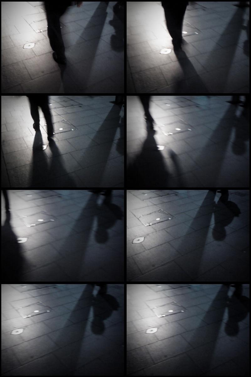 Shadows walk by…