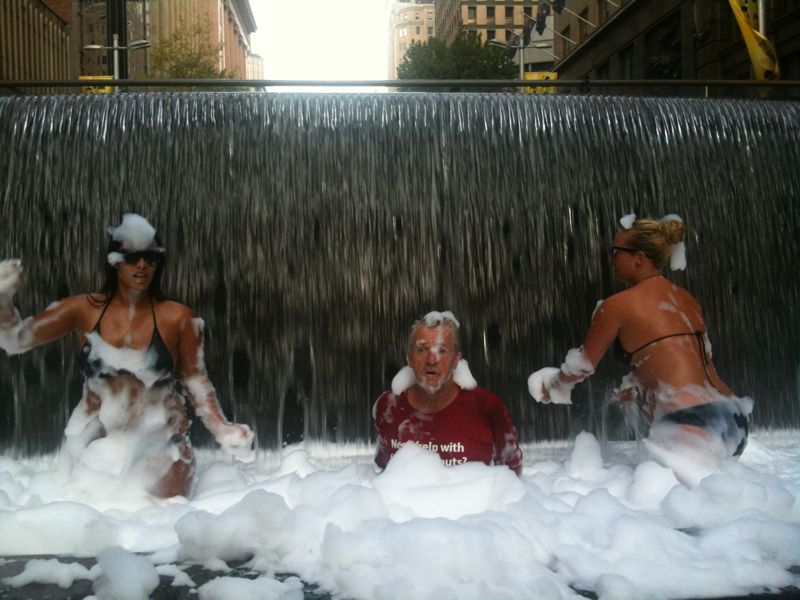 Just seen in Martin place… #hotsummersnight #sydneyfestival