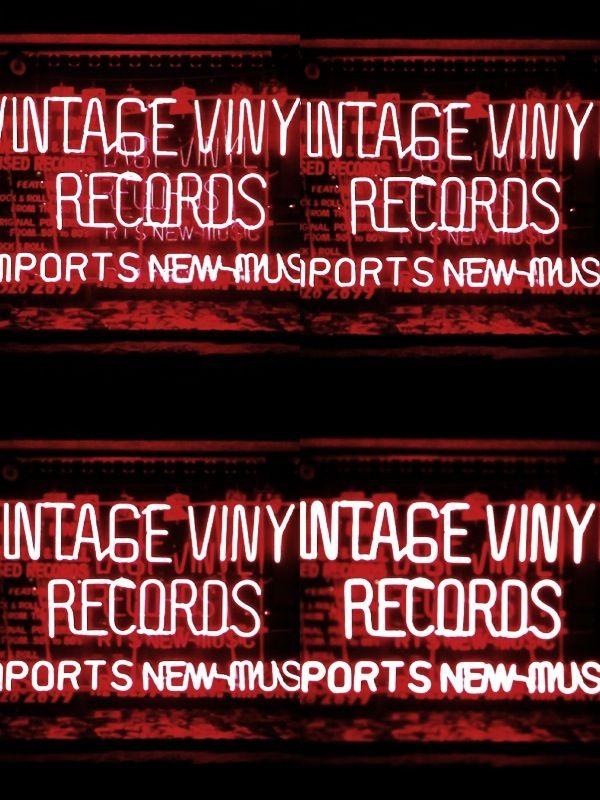 _ #vintagevinyl #neonlights #Evanston