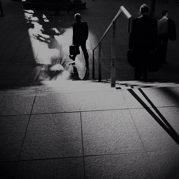 #shadows #streetphotography #rushhour  (Taken with  instagram )