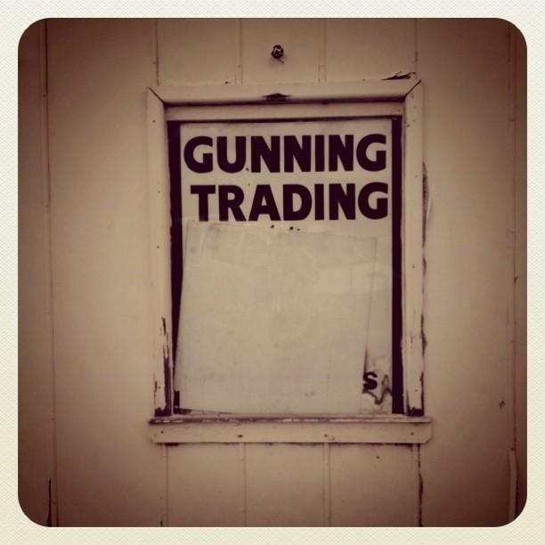 gunning trading #roadtrip #typography  (Taken with  instagram )