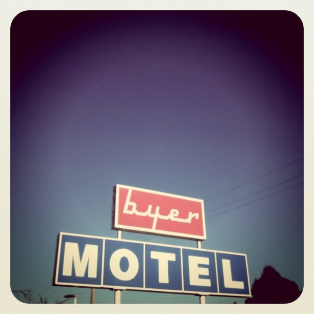 Byer Motel #typography #roadtrip  (Taken with  instagram )