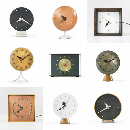 George Nelson Table Clocks - The Mid-Century Modernist