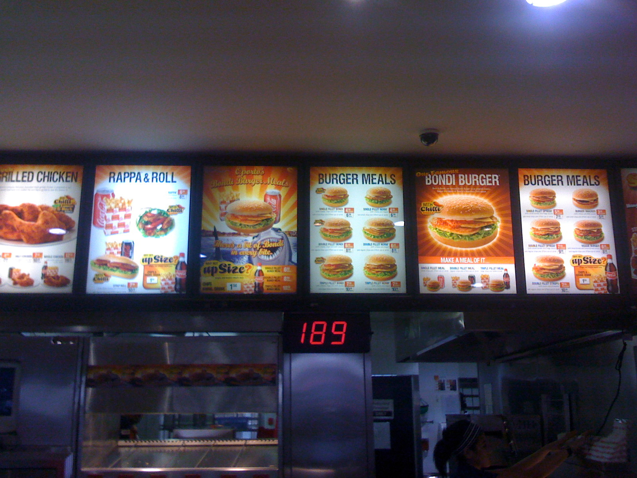Oporto menu. Up sell up sell. What happened to just buying the burger…