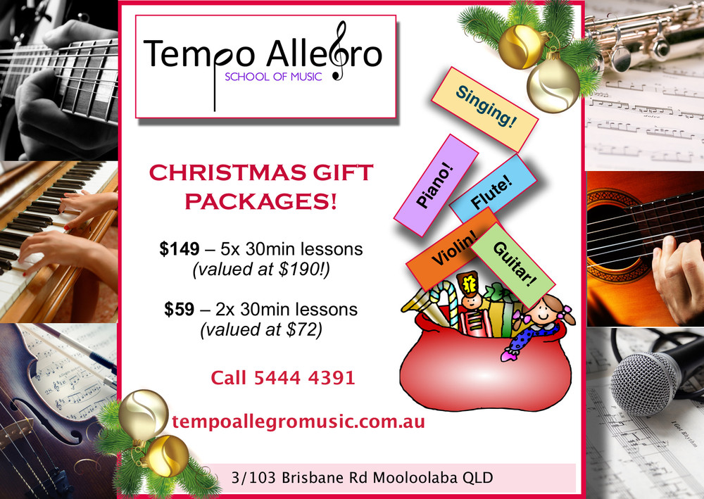 Discover the joy of music this Christmas with a Tempo Allegro Gift Package!