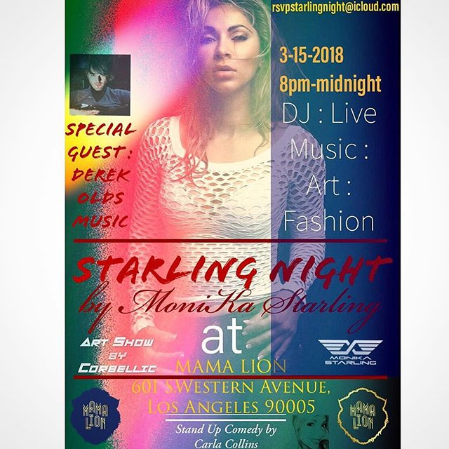🔥Tomorrow Night!! 3-15-2018 I am hosting and performing alongside DJ @monikastarling at the FASHION WEEK KICK-OFF PARTY. 🥊Art show, Comedy Special, DJ and Live Music. Check out the invite for details and message me for guest list/rsvp. #fashionweek #losangeles #lafashionweek #la #fashion #music #art #comedy #standup #standupcomedy #mamalion @mamalionla #musica #livemusic #showtime #trendy #thursdaynight #local #ktown #koreatown #dope #coolkids #instagood #vip #hot
