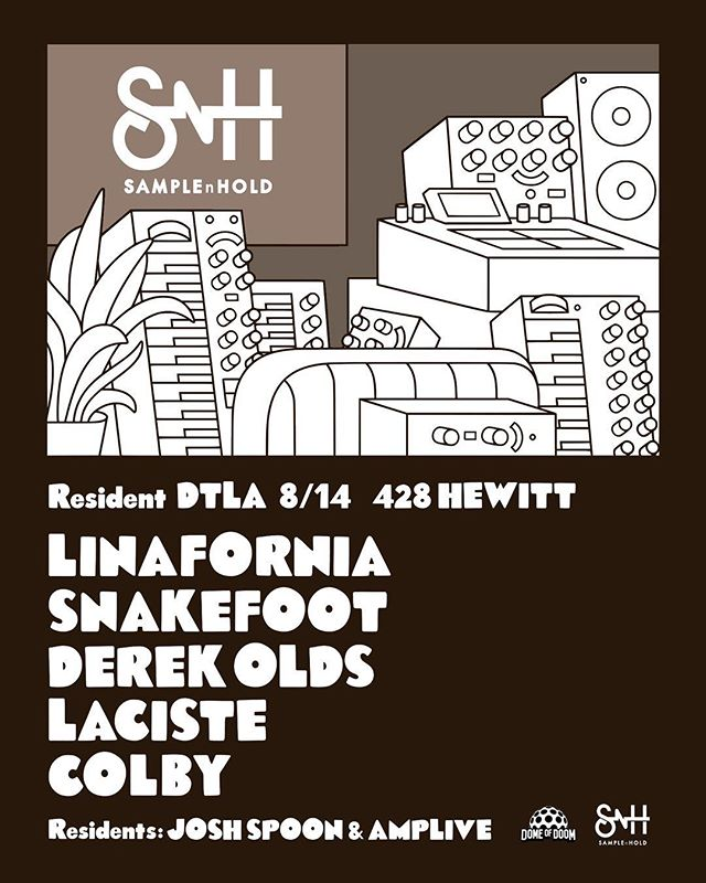Tomorrow night Tuesday at the Resident DTLA. It's called @samplenhold This is one of my favorite movements in LA - an honor to perform with dope artists in front of the dopest group of artists, producers, engineers, and all around Music lovers! We'll get rollin at 7:30pm. Address is on the flyer:: #livelooping #sampling #livesampling #livemusic #losangelesevents #music #bestmusic