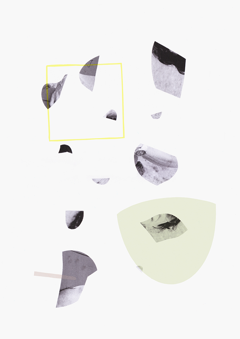 3, 2015, Silk Screen hand-cut collage