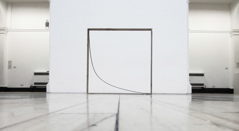 Frame A, 2015, Metal and Wood