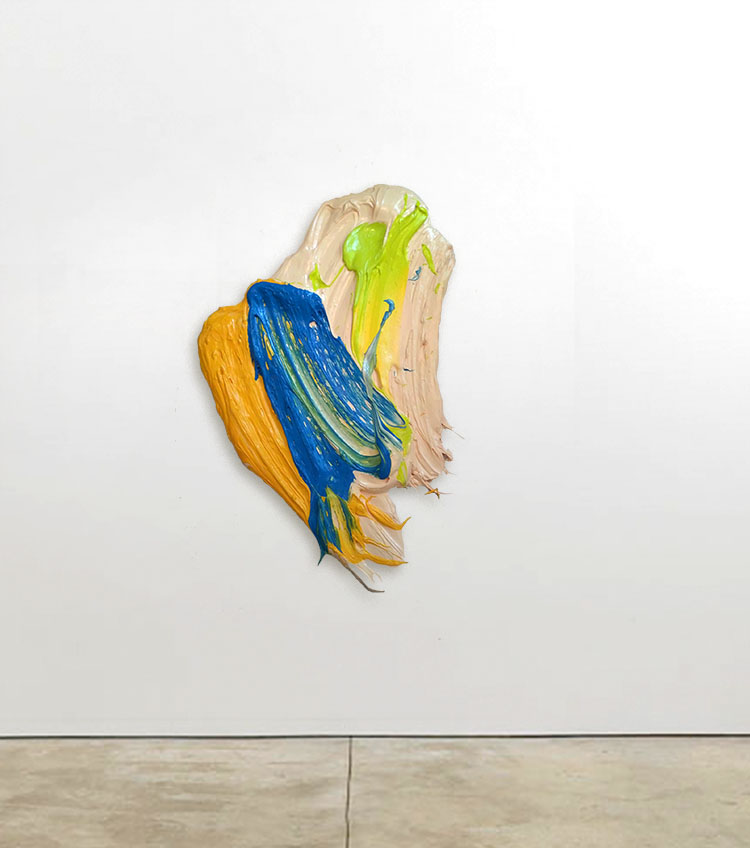 Gafat, 2014, 26 x 42 inches (66 x 107 cm), polymer and pigment mounted on aluminum