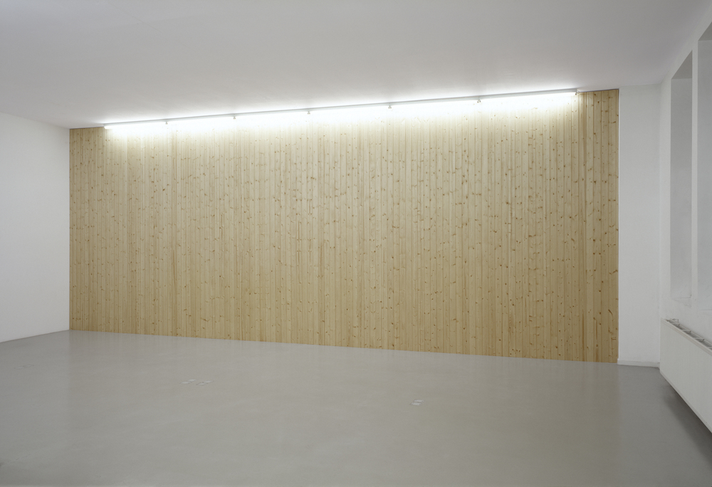 Untitled, 2002, wooden panels, 350 x 870 cm