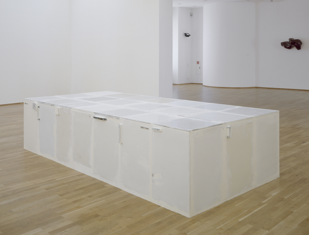 Whiteware, 2002, refrigerators, Penaten baby cream, 85 x 370 x 185 cm