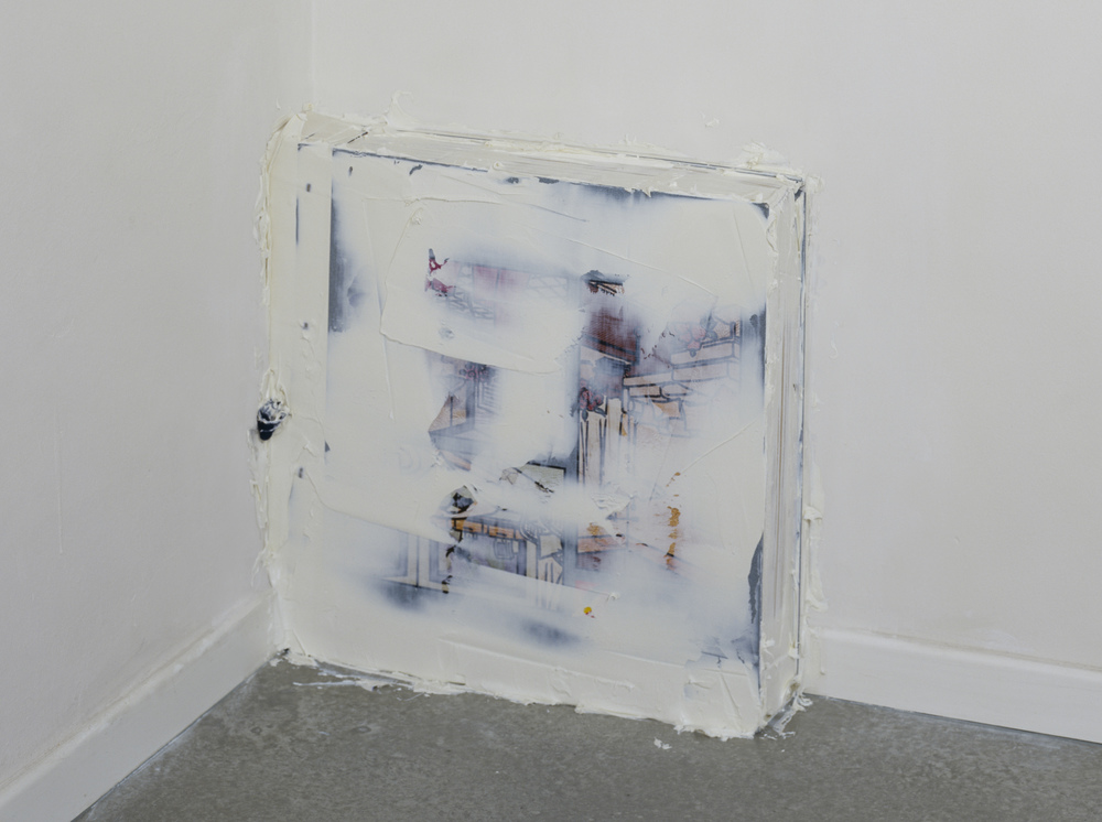 Buchecke, 2004, wallpaper pattern book, Penaten baby creme, 46 x 47 x 11 cm
