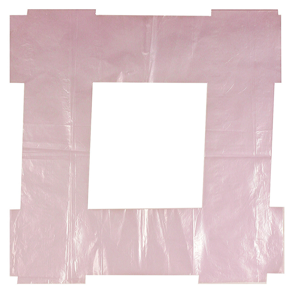 Untitled, 1998, shaped and folded rose-violet polyethylene film, 57 x 57 cm