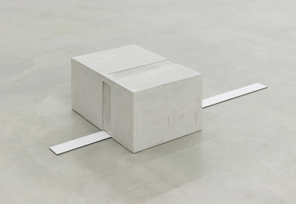 Untitled, 2015, concrete, metal, 20 x 60 x 70 cm (concrete), 10 x 9.5 cm (metal)