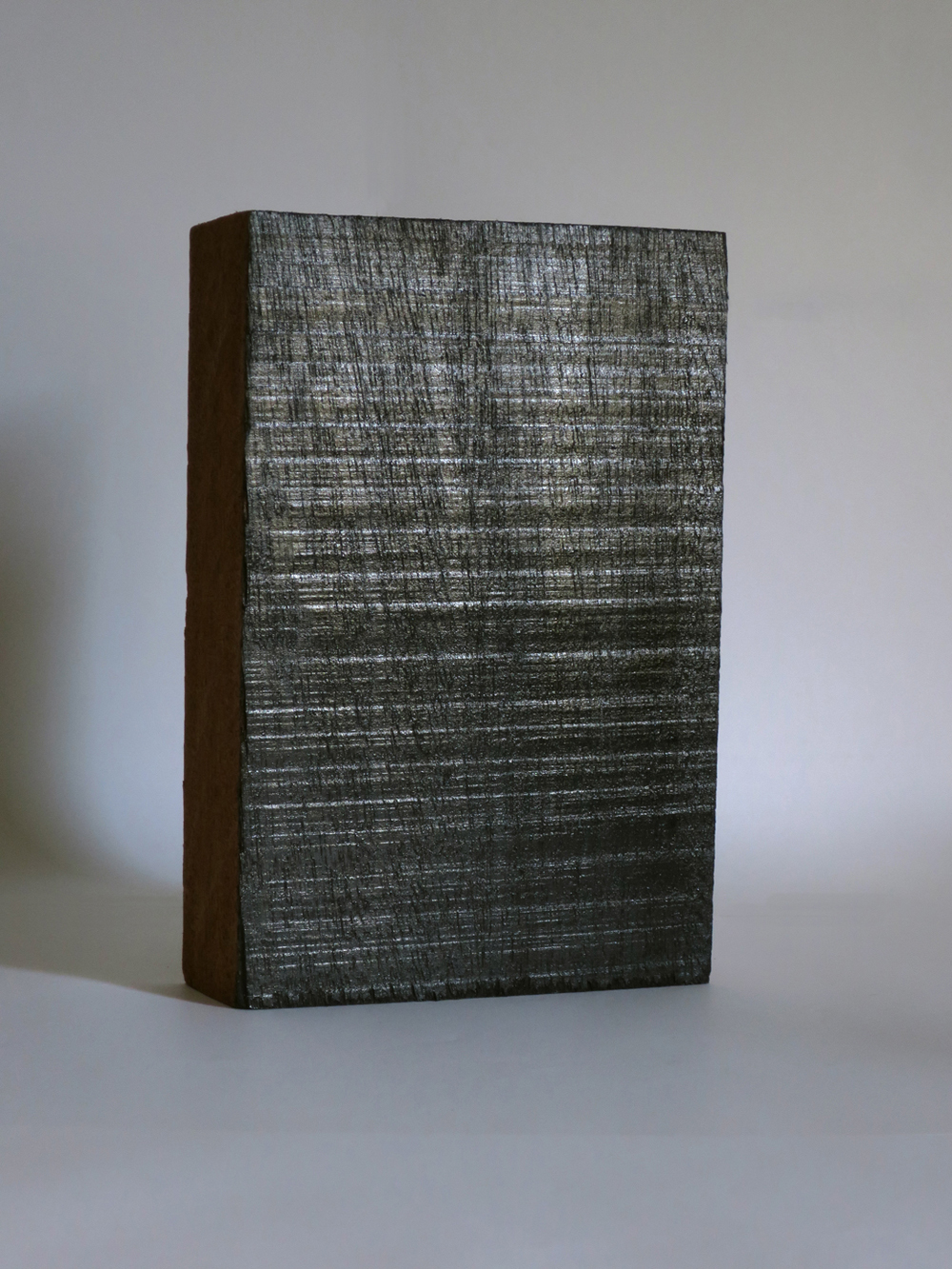 Soupir, 2015, indian ink on wood, 19,2 x 13 x 4 cm