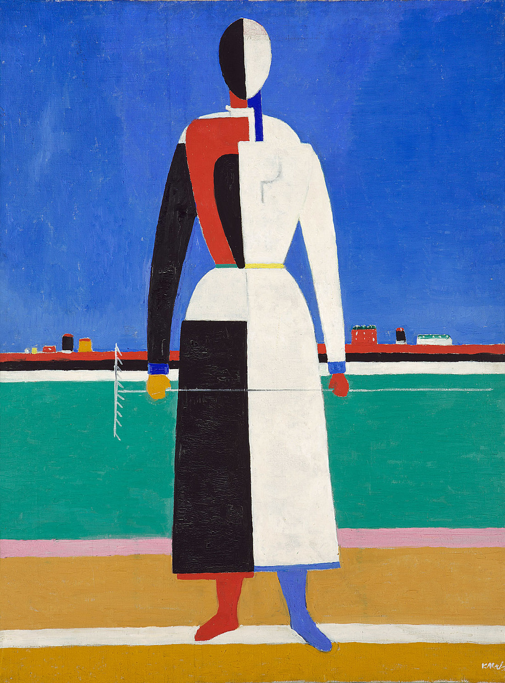 Woman with Rake, 1930-32, oil on canvas