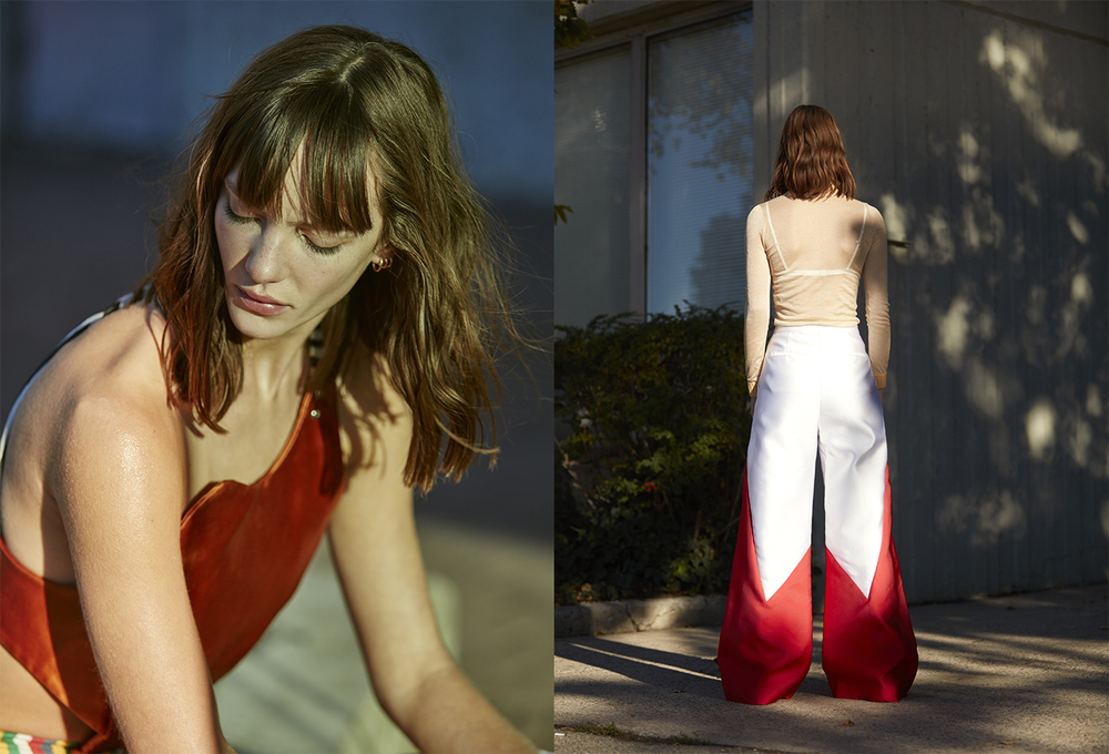 dress ECKHAUS LATTA. top LOEWE pants PRISCAVERA underwear STYLIST'S OWN