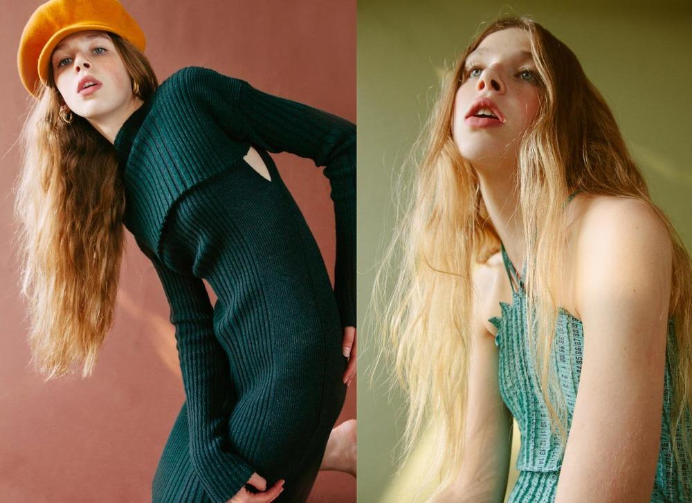 hat and earrings VINTAGE knitwear MARIA DORA.dress KAO PAO SHU