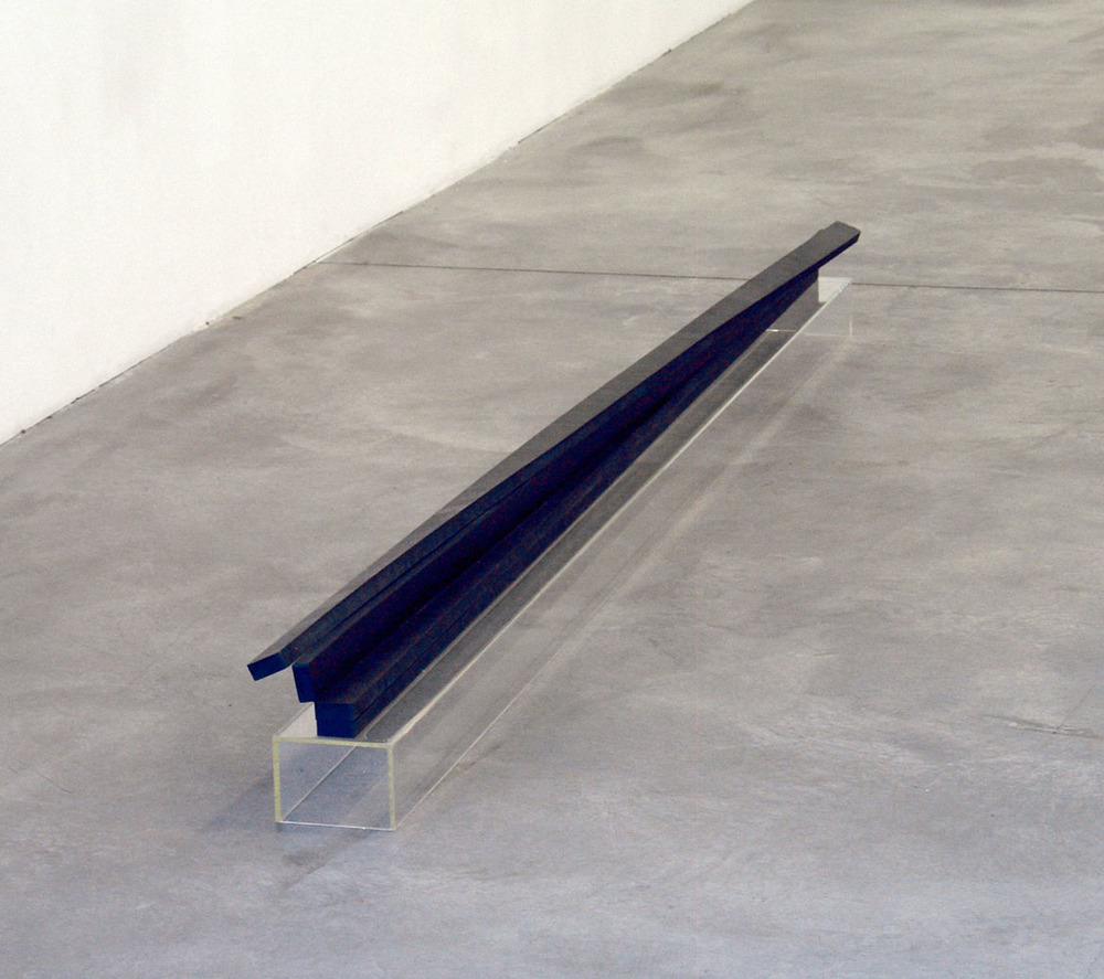 The Limits of Almost, 2009, rubber, acrylic glass, 24 x 250 x 10 cm