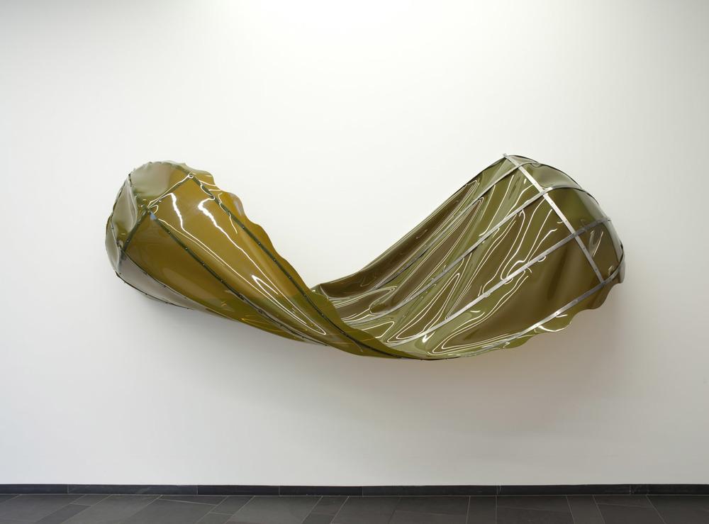 Topsy Turvy, 2012, vinyl, stainless steel, copper, 80 x 230 x 100 cm