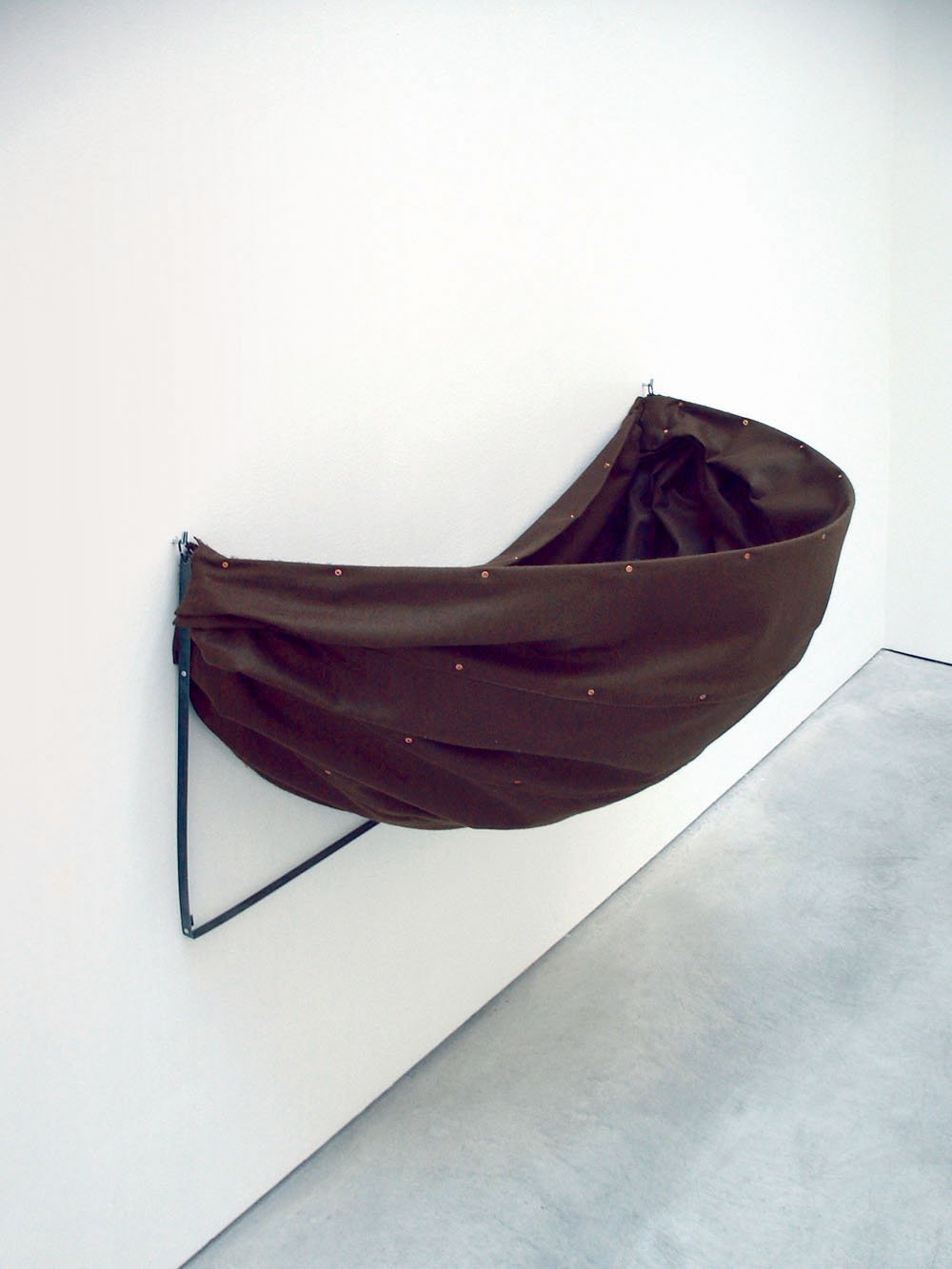, or Good Conduct Well Chastised, 2009, felt, steel, copper, 50 x 100 x 50 cm