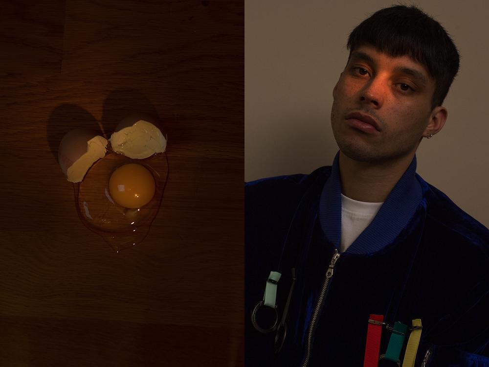 Oisín wears bomber jacket XANDER ZHOU t-shirt LIFE'S A BEACH