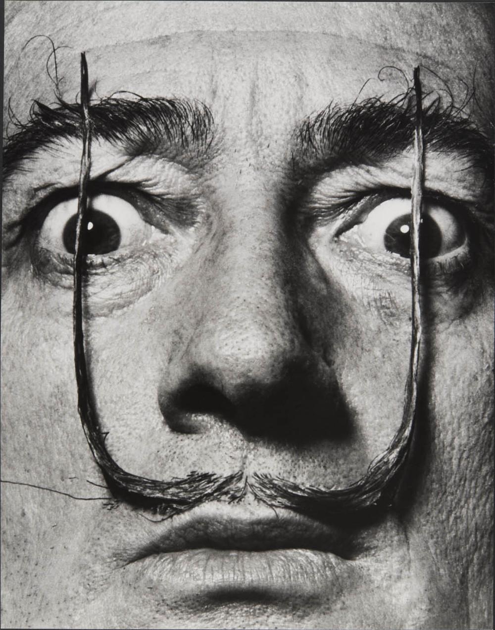 """""""Plantées comme deux sentinelles, mes moustaches défendent l'entrée de ma personne"""", Dalí's Mustache, 1953-1954"""